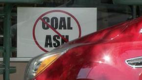 Coal ash sign
