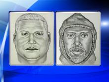The FBI is offering a $25,000 reward for information about two men depicted in these composite sketches who are suspected of a gold heist March 1, 2015, along Interstate 95 near Wilson