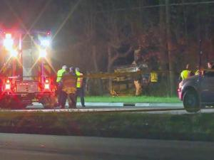 A passenger in an SUV died late Tuesday after being ejected from the vehicle when it crashed on Bragg Boulevard near Santa Fe Drive, Fayetteville police said.
