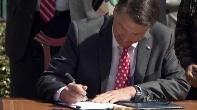 Gov. Pat McCrory signed 12 bills into law on June 11, 2015.