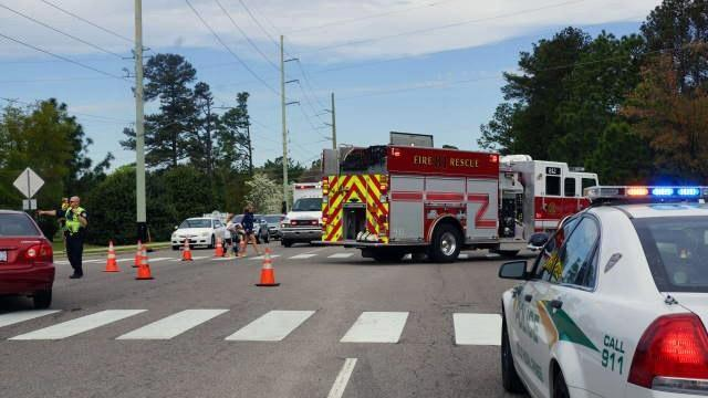 A 70-year-old man and 69-year-old woman were injured early Saturday when they were hit by a car as they crossed West Morganton Road in Pinehurst, officials said. (Photo courtesy Frank Staples)