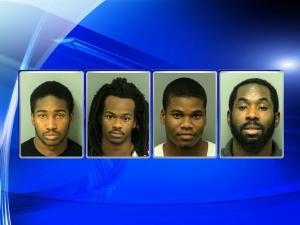 Jason Bullard, Kevon Brown, Tevin Tolliver, Frank Jackson, Cary/Apex burglaries
