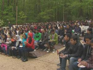 Hundreds gather in Cary for earthquake vigil