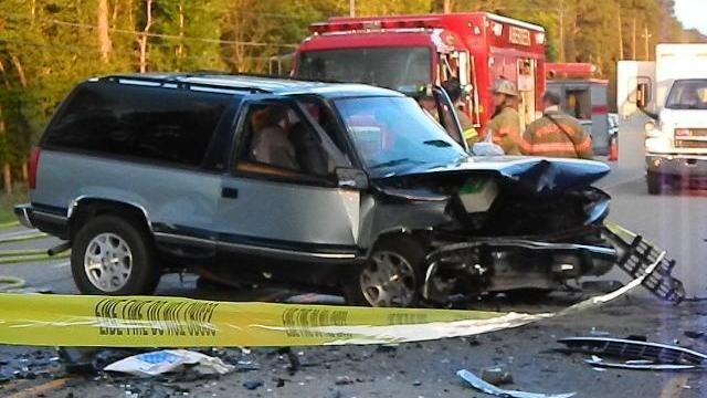 One person was killed and three others were injured Thursday evening after a two vehicle wreck on U.S. Highway 15-501 North in Southern Pines. (Billy Marts/WRAL Contributor)