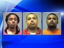 Northampton County deputies Ikeisha Jacobs, Jason Boone and Curtis Boone
