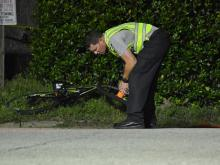 A 9-year-old boy riding his bicycle with friends was killed Tuesday evening after he was hit by a vehicle in Cary. (Adam Owens/WRAL)