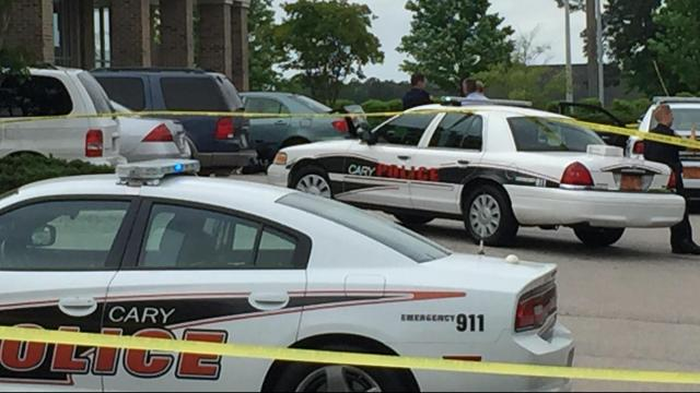 Cary police conduct death investigation at shopping center
