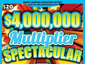 NC Education Lottery's $4 million Multiplier Spectacular Game