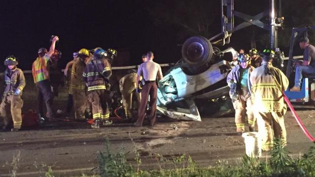 A wreck late Sunday near Princeton sent a driver to the hospital with serious injuries.