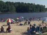 Falls Lake beach