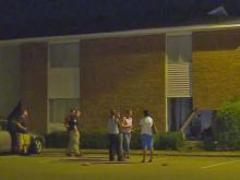 One person was taken to Cape Fear Valley Medical Center early Friday after a car slammed into an apartment building on Barcelona Drive, Fayetteville police said.
