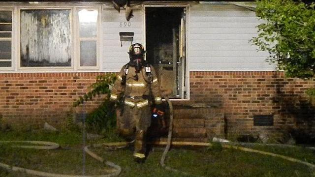 Firefighters were called to 390 W. Lowe Ave. in Southern Pines early on Monday, June 15, 2015. (Photo courtesy: Billy Marts, The Aberdeen Times)