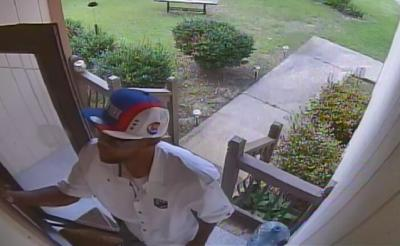 Fayetteville police are searching for two men they say forced their way into two homes at gunpoint and robbed the residents.