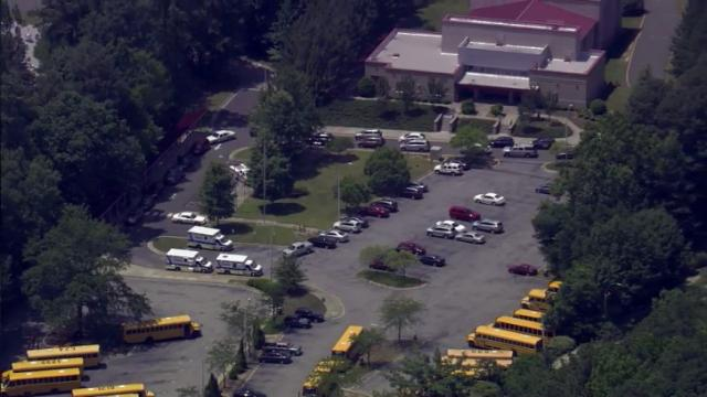 A building at East Cary Middle School was evacuated on June 18, 2015, after several people were sickened by a carbon monoxide leak.