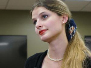 A victim of Internet stalking and kidnapping shared her frightening story Friday as a caution for parents, children and health care providers. Alicia Kozakiewicz was making the rounds of schools and pediatricians offices in Fayetteville and Fort Bragg.