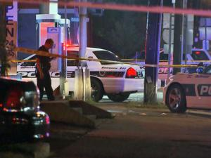 One killed in robbery at Durham gas station; police shoot, injure suspect