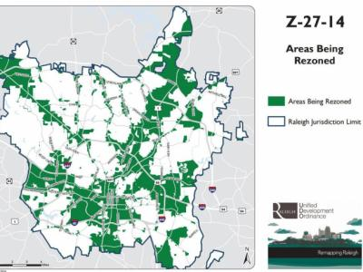 Proposed Raleigh rezoning map
