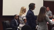 Ashlyn Coley appears in court Monday.