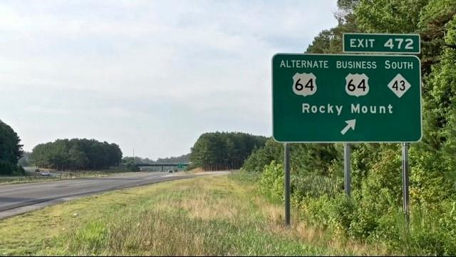 Four people were wounded early Sunday when they were shot while driving east on U.S. Highway 64 in Rocky Mount, police said.