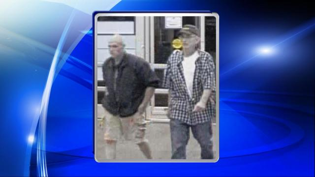 Two men are wanted for questioning in connection with a larceny that occured on July 4, 2015