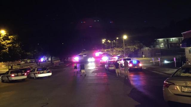 Durham police are investigating the shooting of a security guard at an apartment complex Monday night.