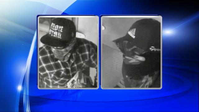The Southern Pines police department is trying to identify two men who robbed two restaurants.