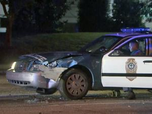 Raleigh police cruiser involved in hit-and-run