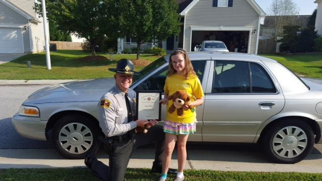 Lt. Jeff Gordon and Megan Millar