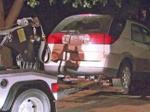 Durham police towed a white SUV from the scene of an incident in 100 block of Shearwater Drive.