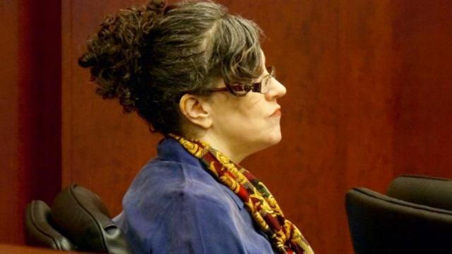 Joanna Madonna claims she killed her husband in self-defense after he threatened her with a gun.