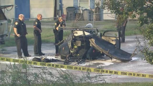 James Victor Massey, 48, the owner of a Knightdale automotive shop died early Thursday from injuries he sustained in a fiery crash that happened outside his business.