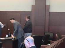 Remy Gagnon is sentenced to jail on Oct. 5, 2015.