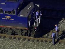 Sky 5: Pedestrian hit by train at NC State