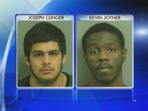Joseph Clinger, Kevin Joyner and one juvenile were arrested and charged in connection with two armed robberies, Raleigh police said.