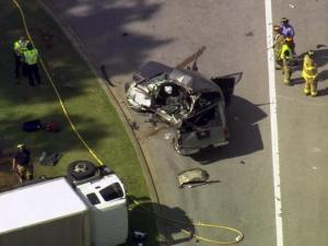 A woman died Oct. 9, 2015, from injuries she suffered in a three-vehicle crash in the Wakefield neighborhood of north Raleigh, police said.