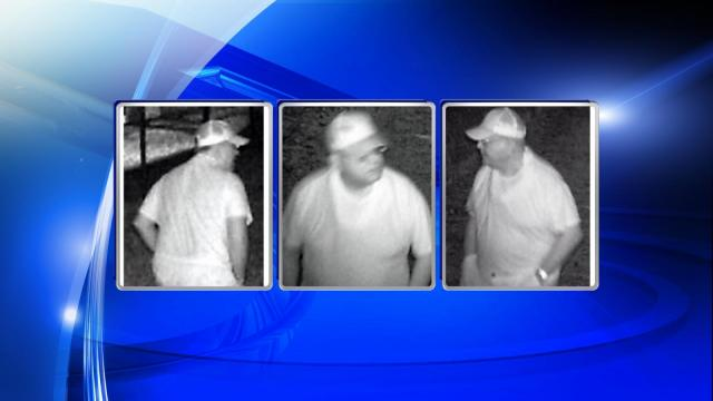 Raleigh police released three images Friday from surveillance video of a man suspected of peeping into an apartment of Ivy Commons Drive.