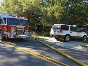 Two people were taken to a local hospital Monday morning after a fire at a home on South Wakefield Street in Zebulon.