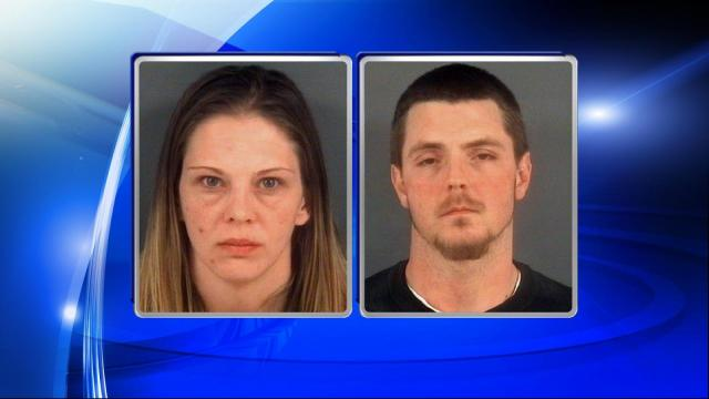 A Fayetteville man and woman were arrested Monday after they were caught by Cumberland County sheriff's deputies with stolen goods.