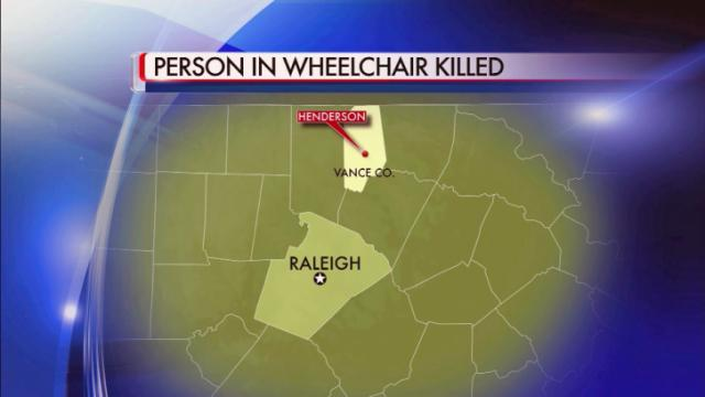 Pedestrian in wheelchair killed in Vance County wreck