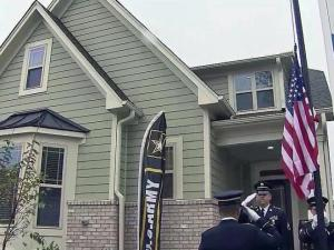 An Army sergeant who was severely injured in Afghanistan by a suicide bomber in 2012 was given the keys to his new Wake Forest home Tuesday, courtesy of Operation: Coming Home.