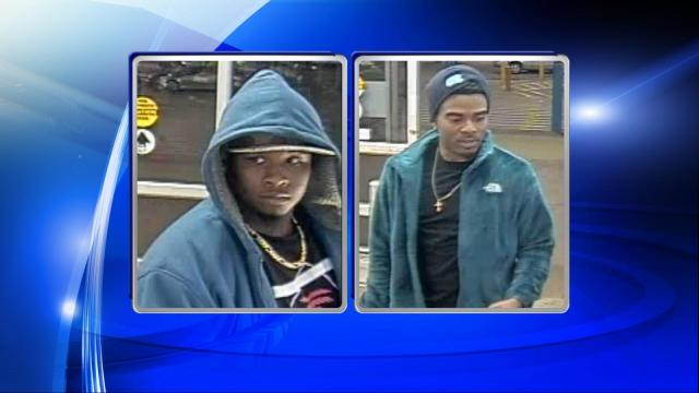 Police said that two unknown men broke into several vehicles in the Carson Allen Road area of Hope Mills on Oct. 21 and stole wallets, debit cards, and cash. The stolen cards were later used by the two men at a Walmart on Ramsey Street in Fayetteville.