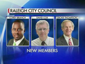 New Raleigh council members