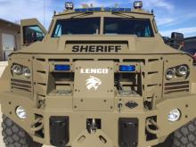 Johnston County Sheriff Steve Bizzell recently purchased a Bearcat - an 10-ton armored vehicle used by military and law enforcement.