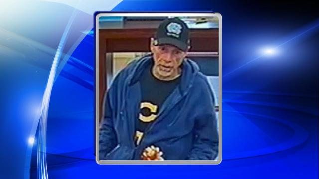 Police said that the man entered the First Citizens Bank at 3604 Ramsey St. at about 12:30 p.m. and handed the teller a note that demanded money and stated that he had a weapon.