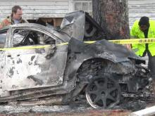 Authorities were seeking the public's help Friday to identify a man killed in a fiery wreck on Castleberry Road in Johnston County.