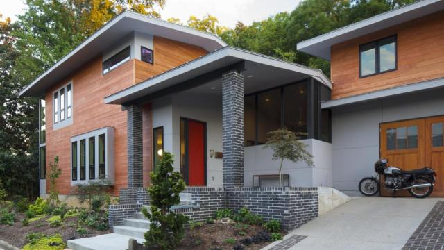 A modern home in Raleigh's historic Oakwood neighborhood is staying put after the North Carolina Court of Appeals upheld a Superior Court's ruling. (Photos courtesy Louis Cherry)