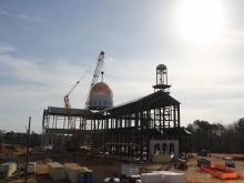 Timelapse: Dome caps new Catholic cathedral in Raleigh