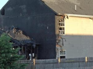 No injuries were reported Monday morning when fire tore through a Raleigh home.