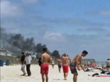 RAW: Fire in Wrightsville Beach