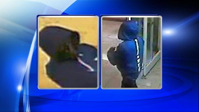 Raleigh police are seeking public assistance in locating a man they believe is responsible for four armed robberies that took place in April.